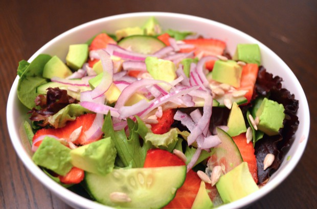 Dinner Salad Day 37 Eat to live 6 week Plan by Dr Fuhrman MyMommaToldMe.com