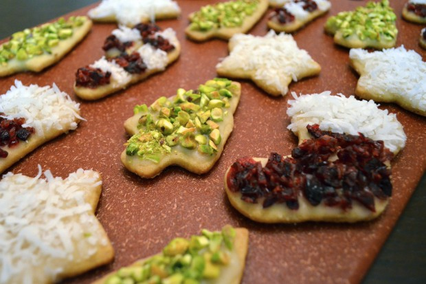 natural decorated sugar cookies decorate your christmas cookies with coconut cranberry and pistachios mymommatoldmecom - Christmas Cookie Decorations