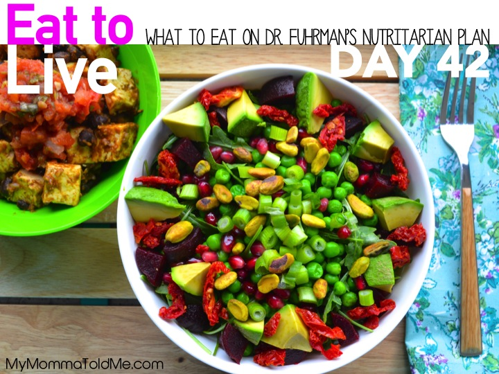 Diet Dr Fuhrman Day 42 Dr Fuhrman Nutritarian 6 week plan everything I ate for 6 weeks