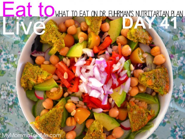 What I Ate on Day 41 of Dr Fuhrman Eat to Live diet plan 6 week Nutritarian plan