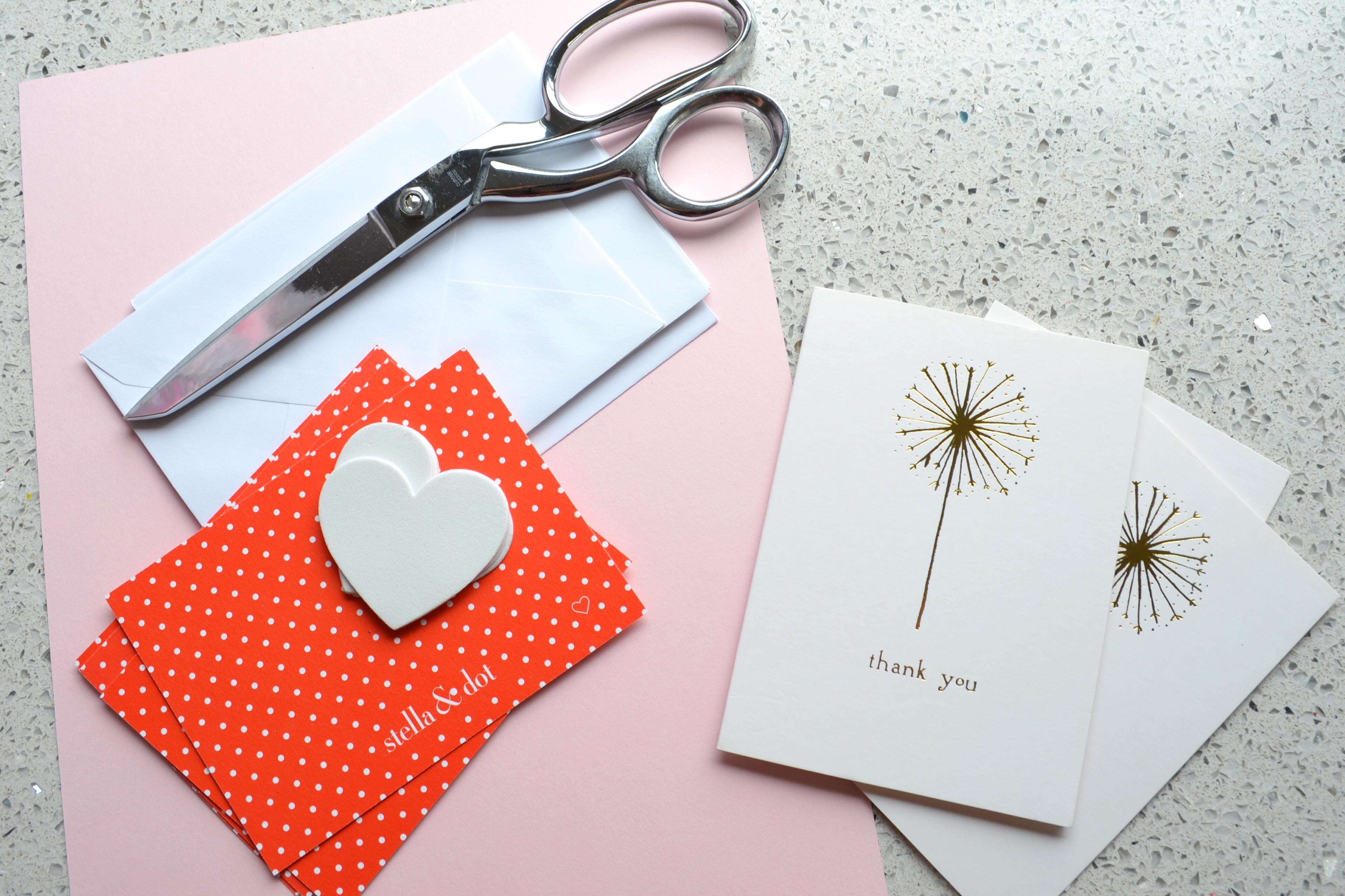 DIY Stella and Dot Valentine Note Cards MyMommaToldMe.com