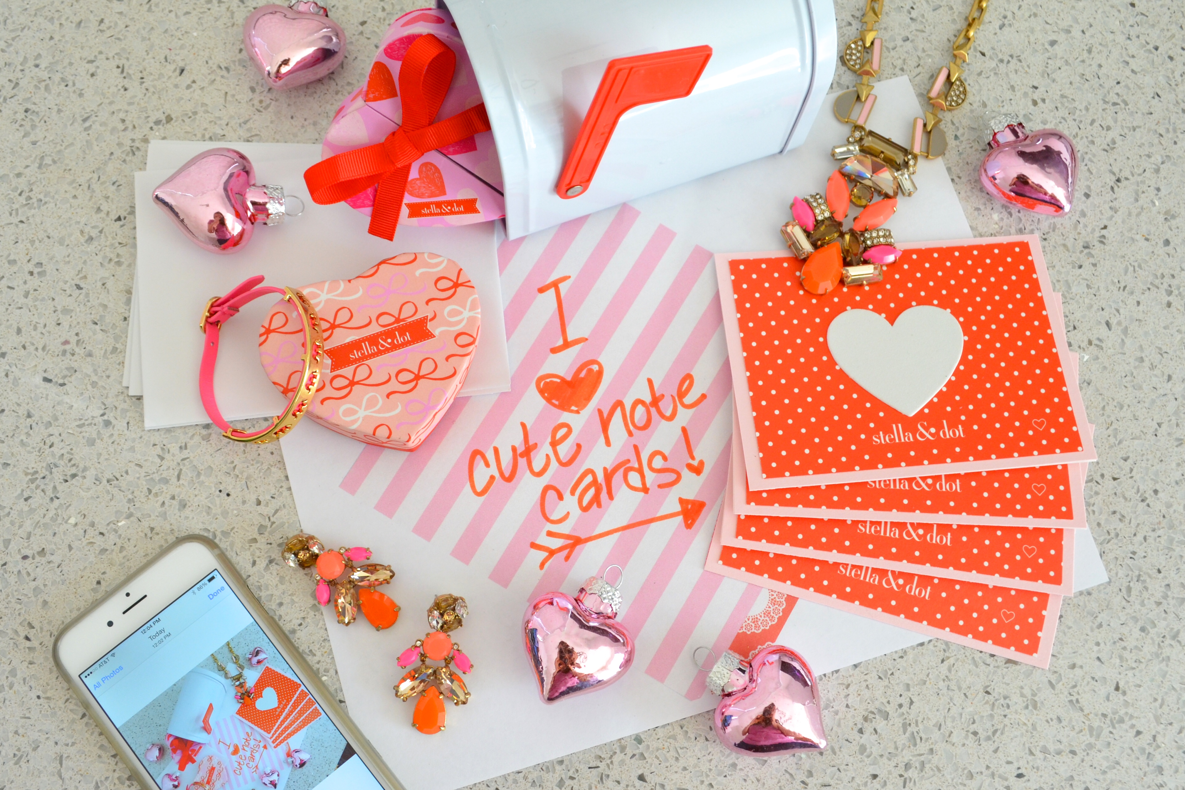Stella and Dot Valentine Note Cards Tutorial by MyMommaToldMe.com