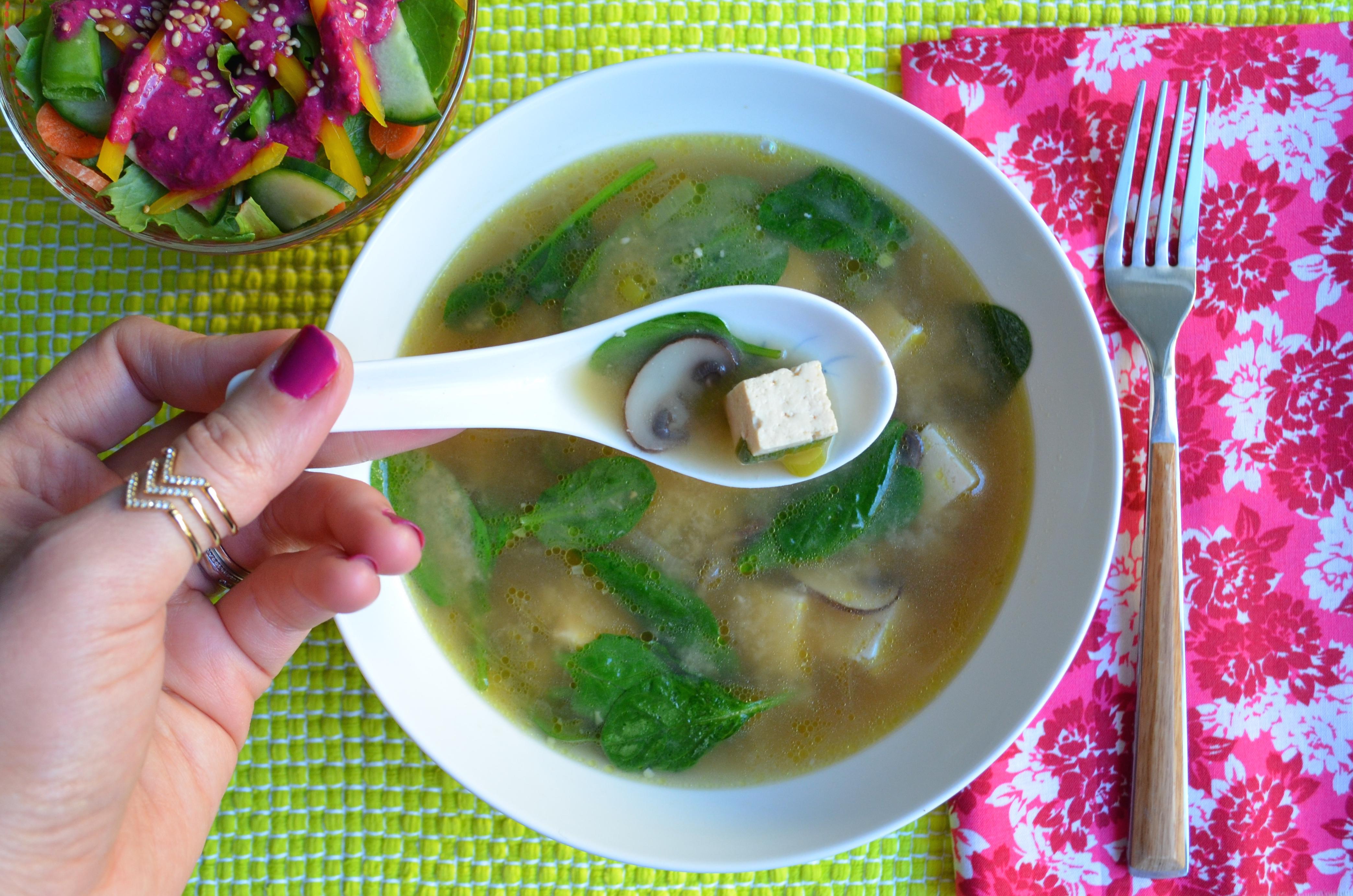 Vegan Miso soup recipe by MyMommaToldMe.com