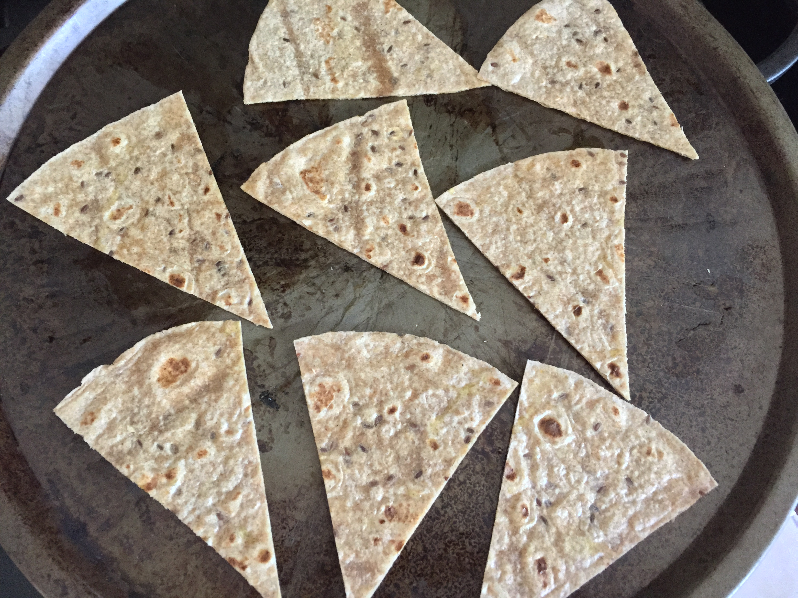 Healthy Flax seed tortilla chips by MyMommaToldMe.com