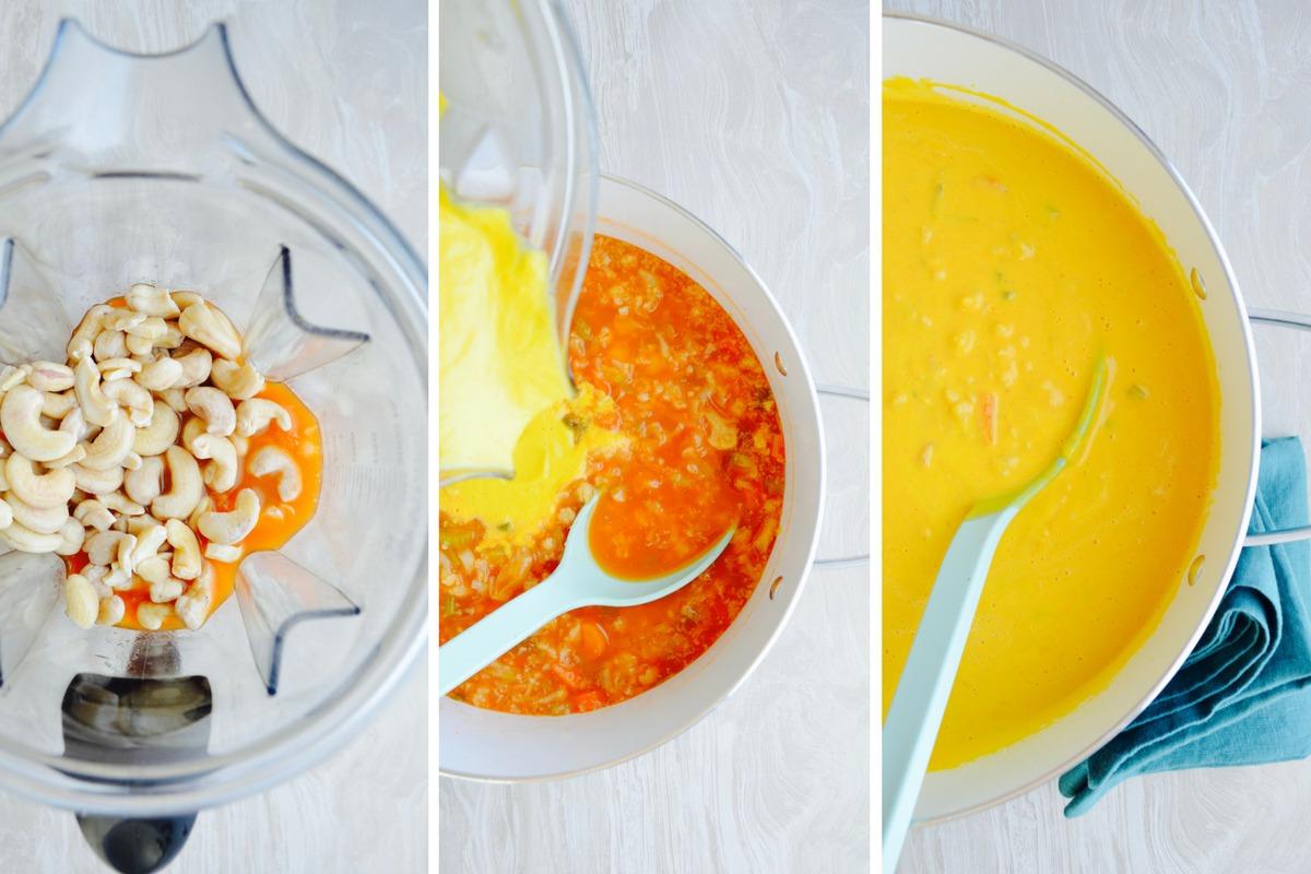Dr fuhrman Eat to Live Vitamix recipes Golden Austrian Cauliflower Cream soup 6 week program