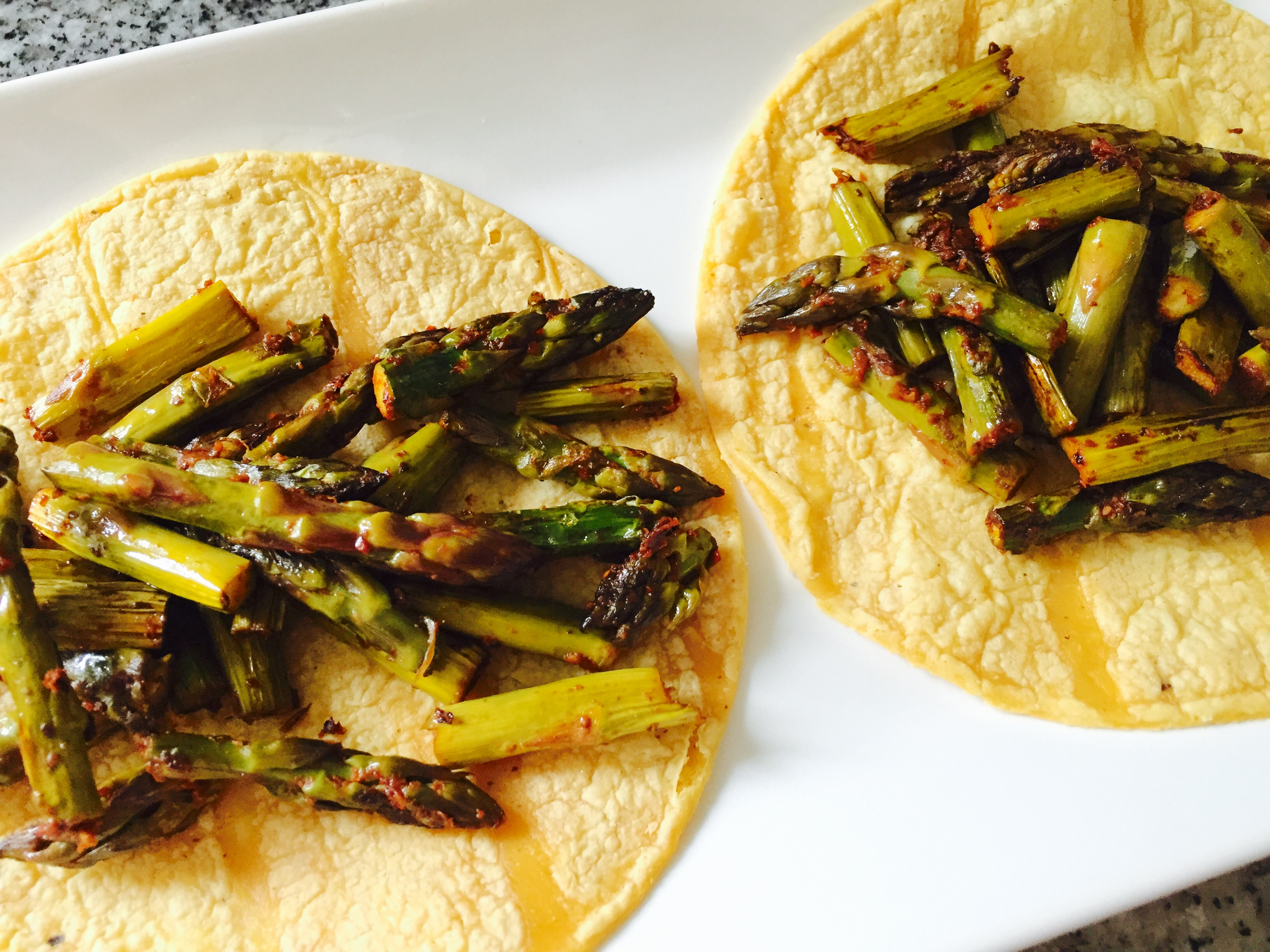 Roasted Asparagus Chipotle tacos recipe MyMommaToldMe.com