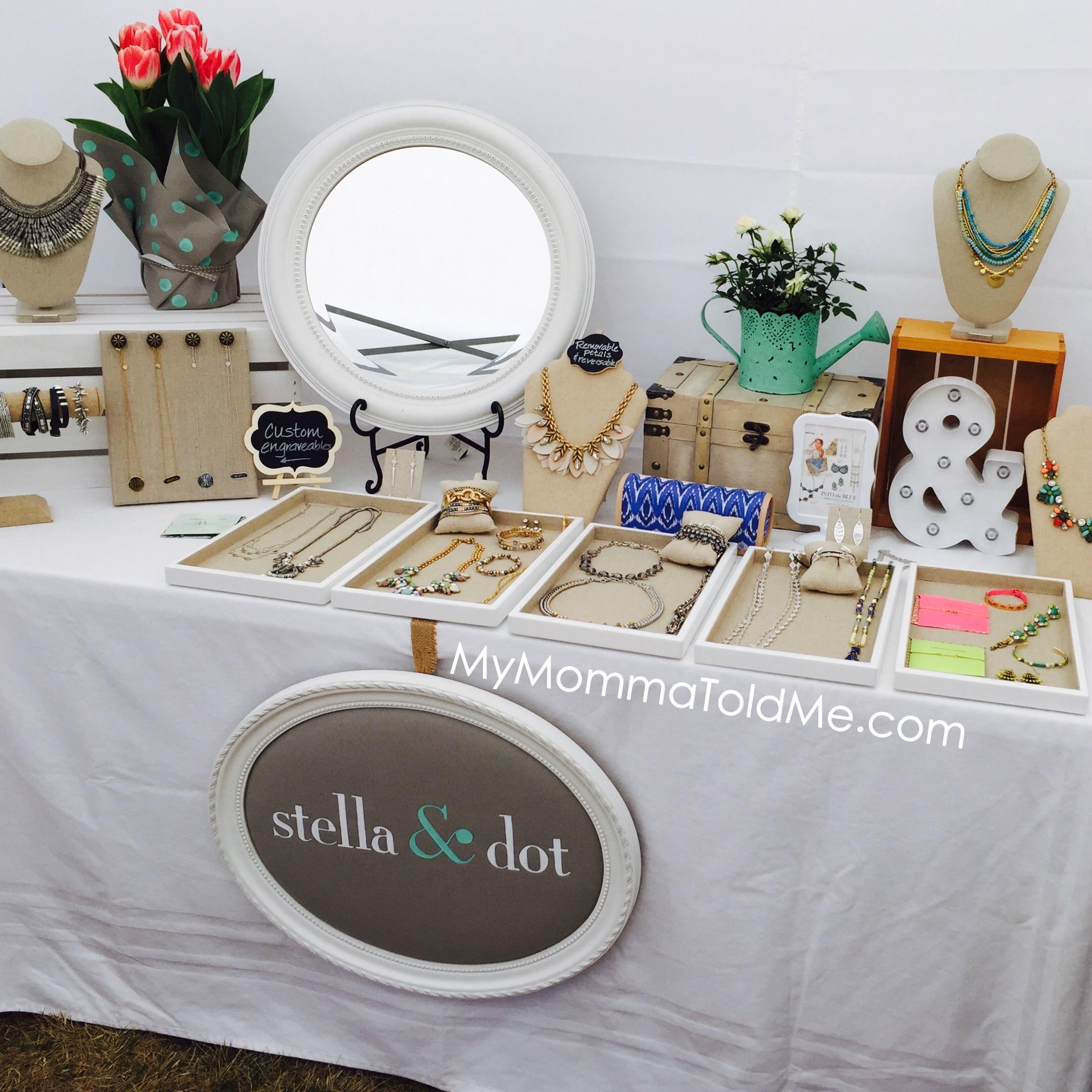 Stella & Dot Vendor Evnet Set Up Trunk Show Display Ideas MyMommaToldMe.com