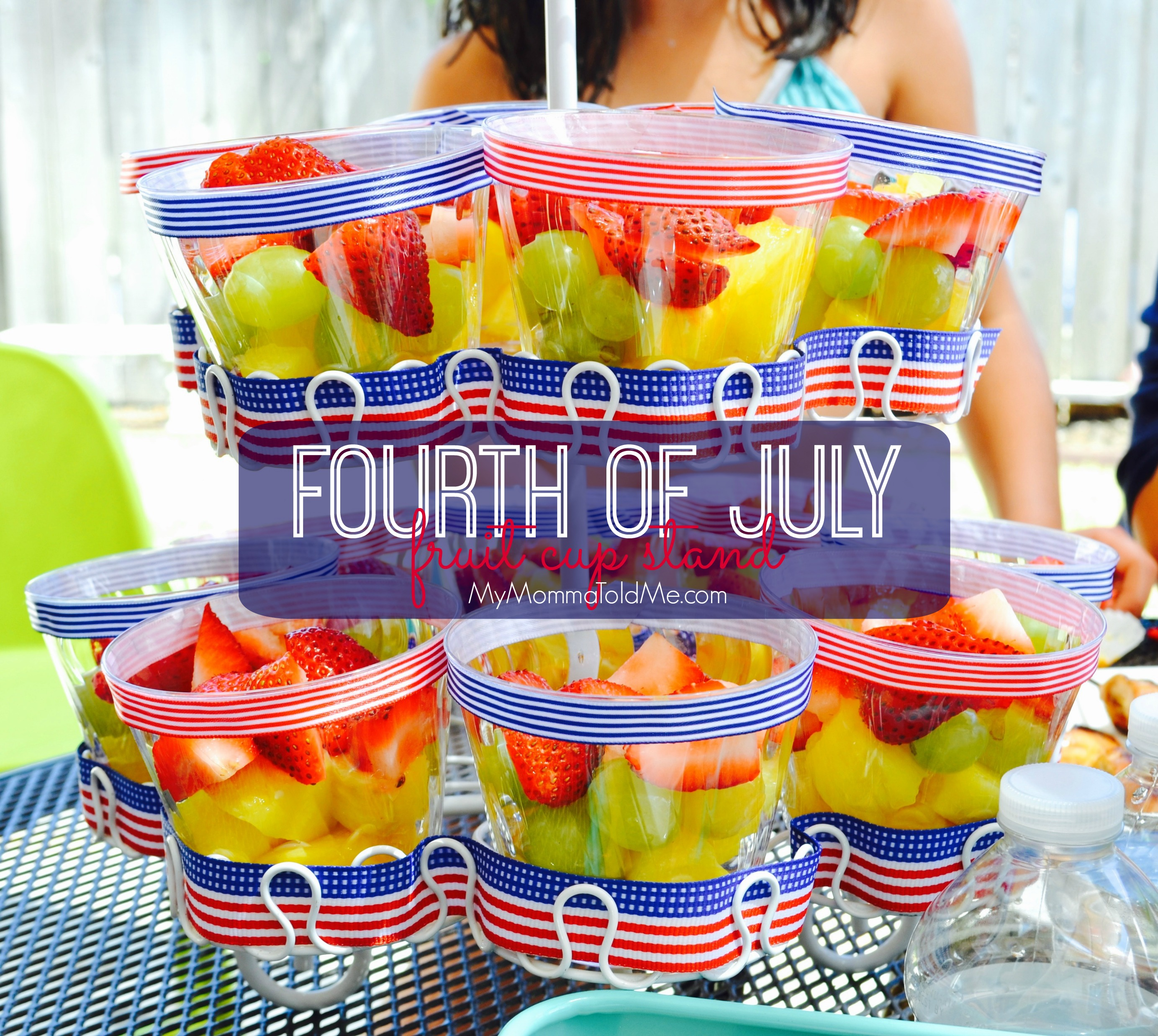 Fourth of July Fruit Cup Stand Dr Fuhrman Eat to Live Program Recipe MyMommaToldMe.com