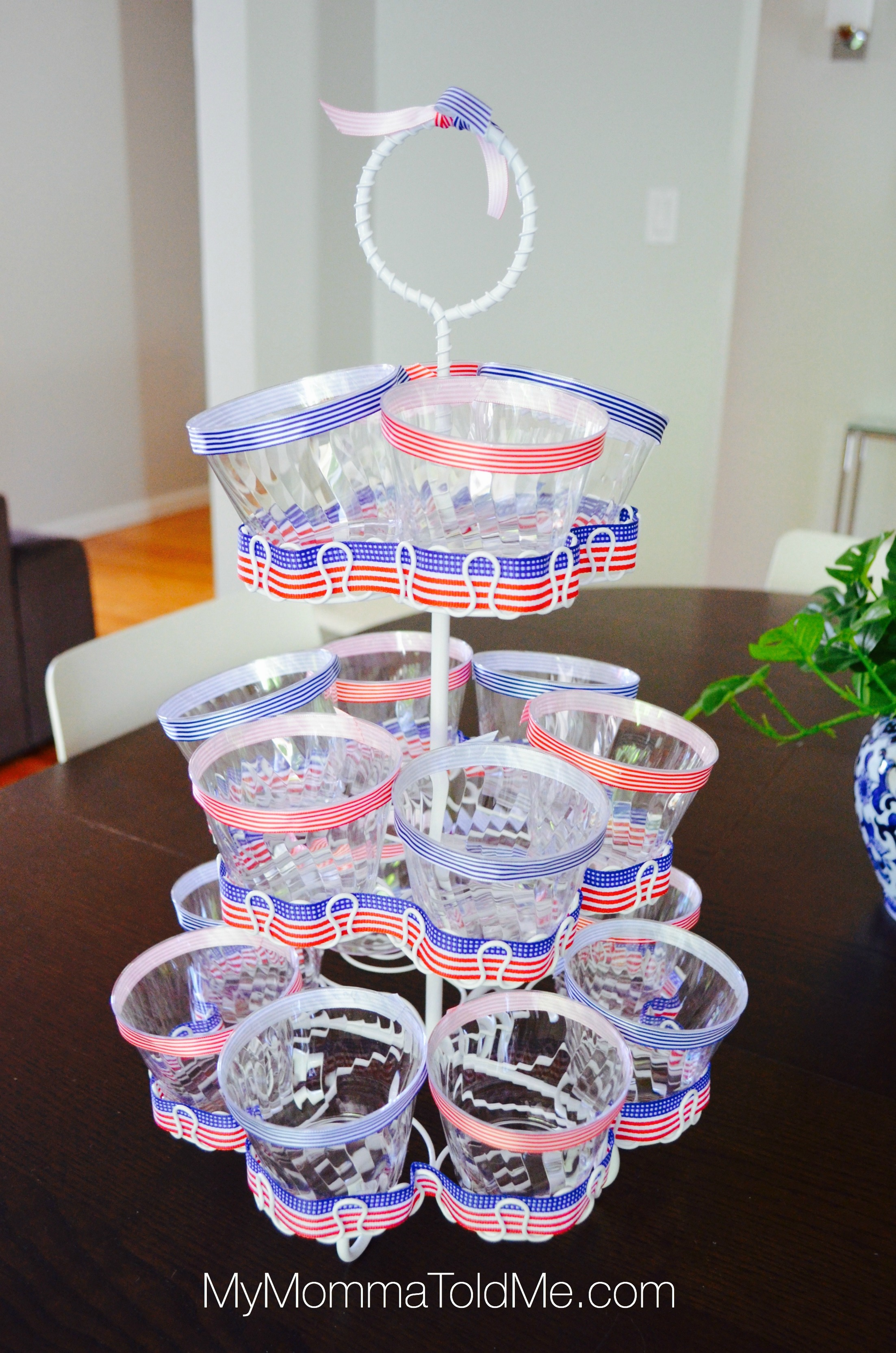 Fourth of July Fruit Cup stand Tutorial MyMommaToldMe.com