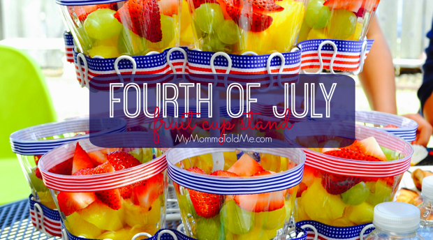 Fourth of July Fruit Cups and Patriotic Cupcake Stand Tutorial