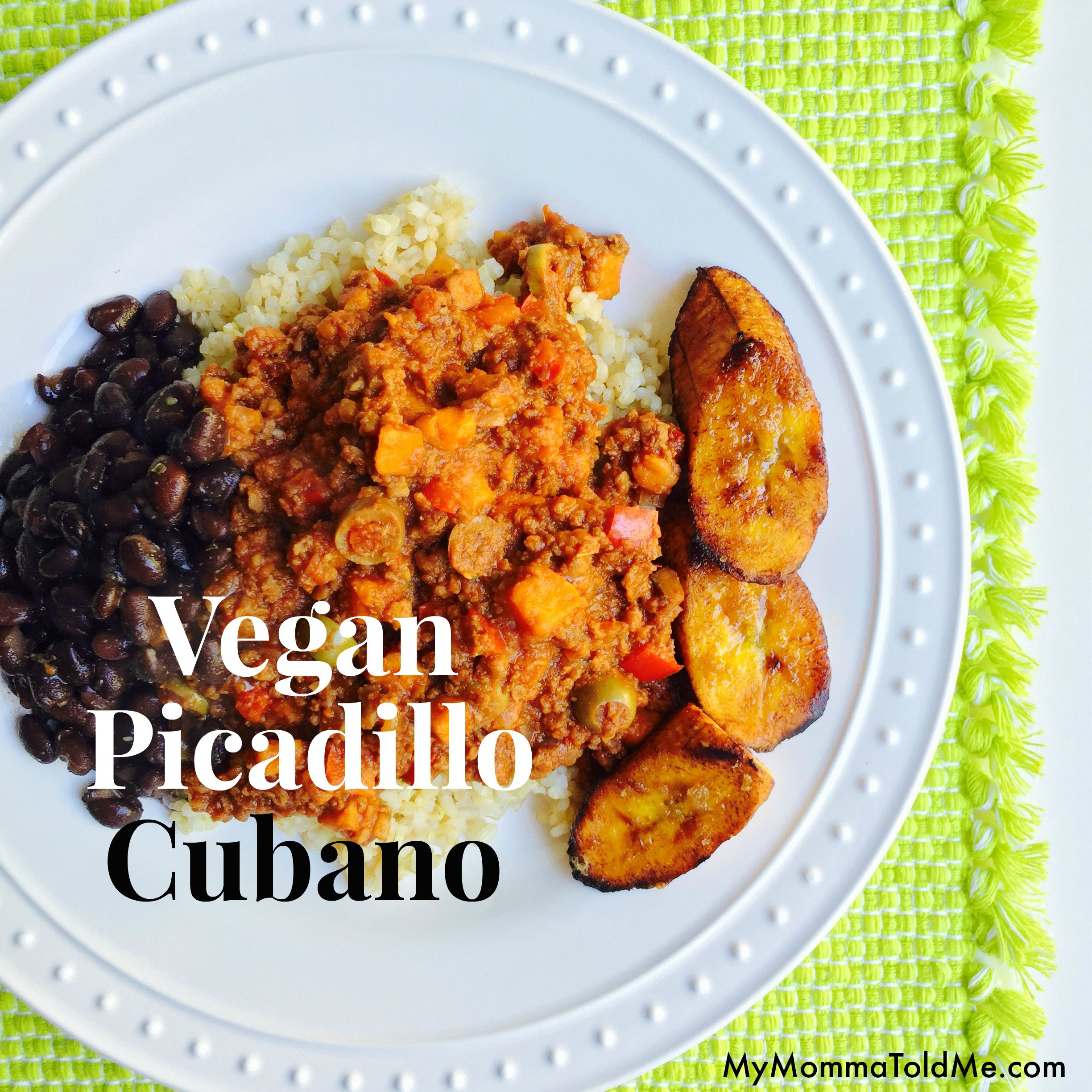 Vegan Picadillo Recipe Vegan Cuban Food Cuban Recipe