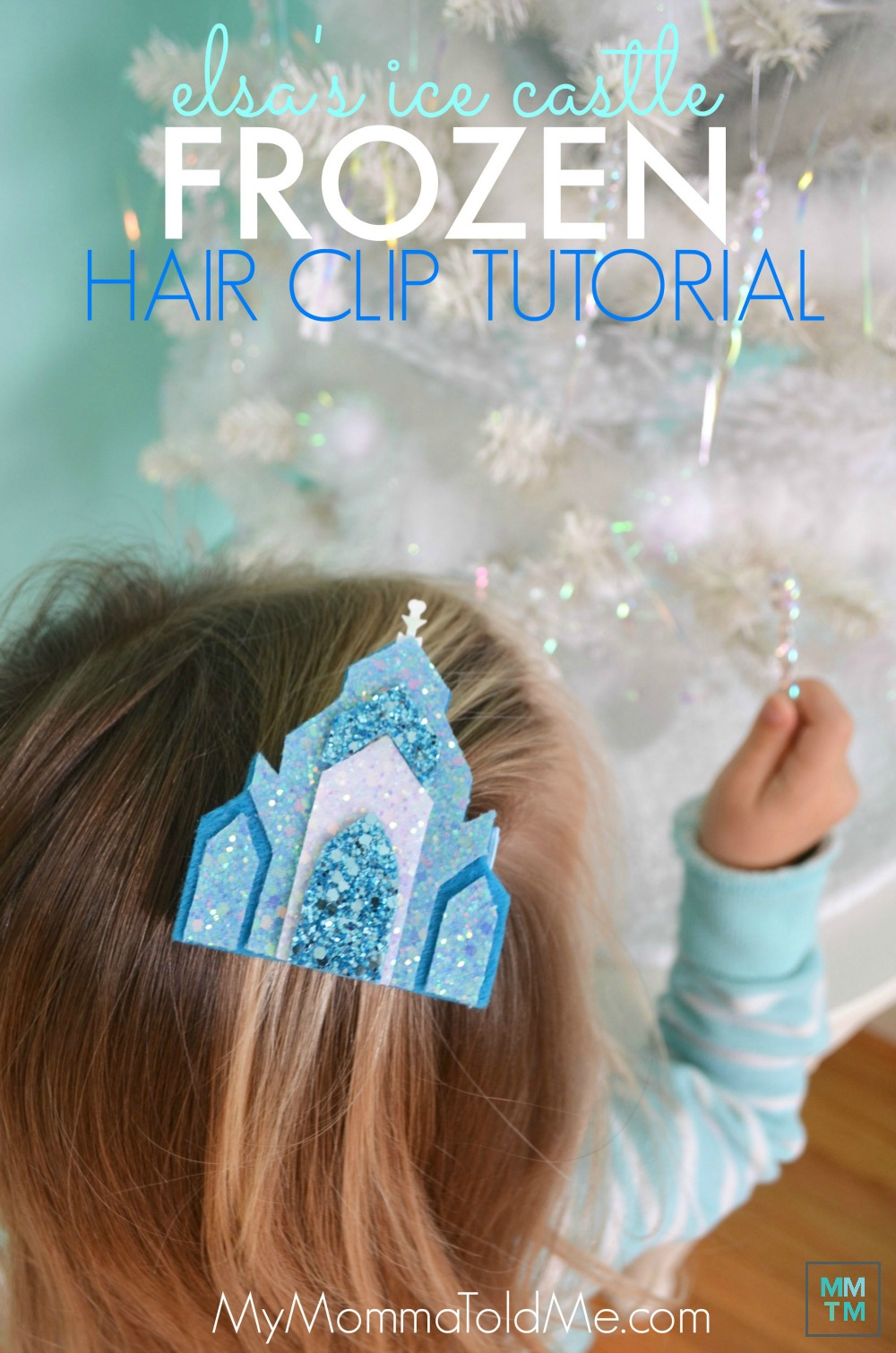 Elsa's Castle Hair Clip tutorial free template Felt Frozen Castle Disney Frozen craft Frozen Christmas present idea