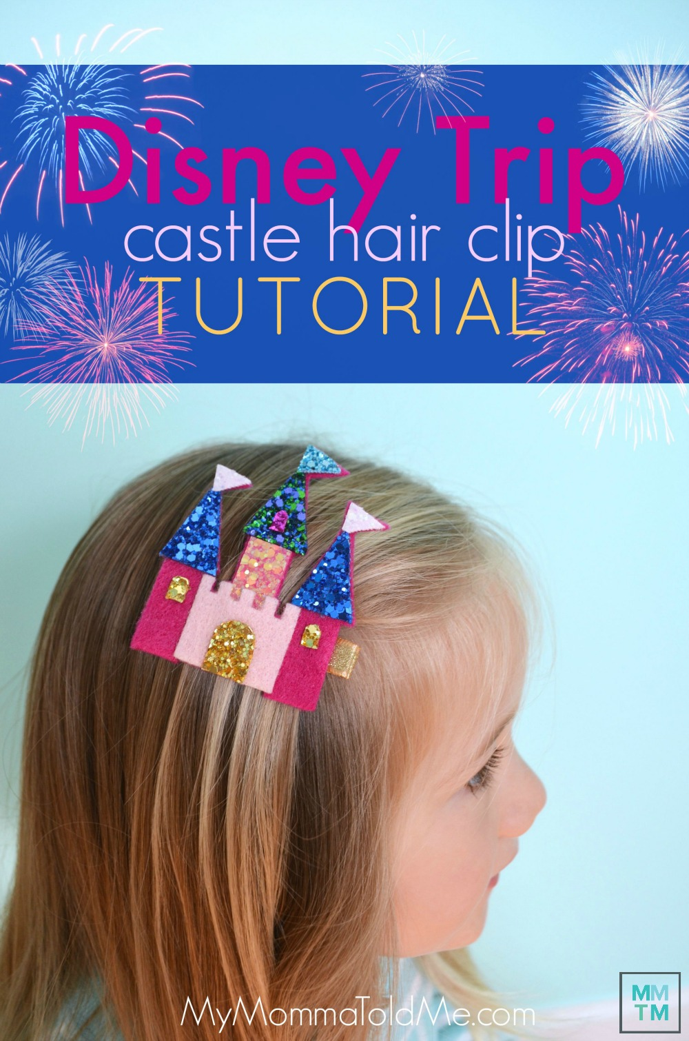 Felt Disney Castle Hair Clip Tutorial Arandelle Frozen Castle Hair clip