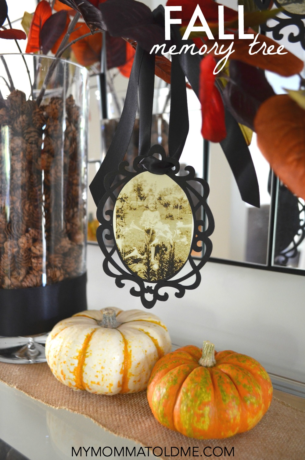 diy fall decor ideas family memory tree autumn decor ideas