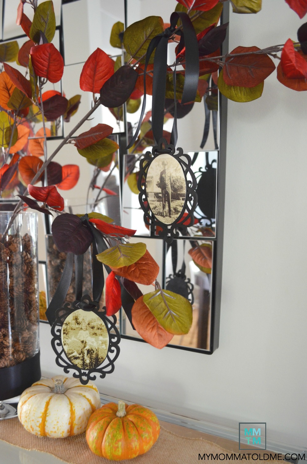 diy fall decor ideas thankful tree family memory tree dia de los muertos day of the dead decor idea