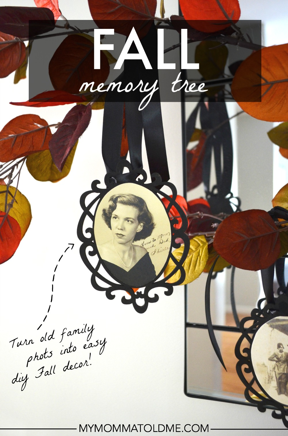 diy fall decor ideas thankful tree family memory tree from old photos autumn decor ideas memorial tree