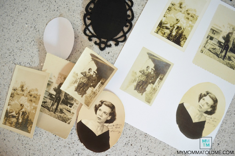 old family photo craft projects family photo ornaments vintage photographs