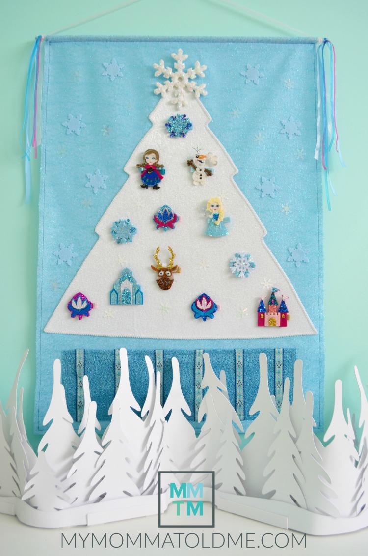 DIY Disney Frozen Advent Calendar Frozen Hair Clip Advent Calendar Frozen Christmas Decor