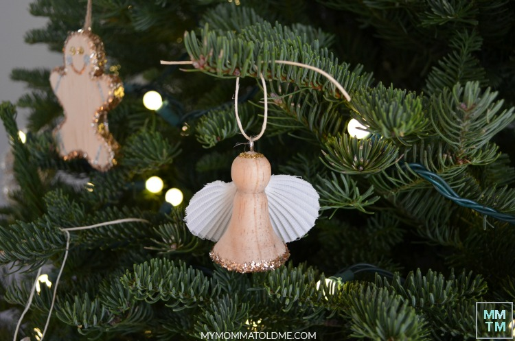 DIY Rustic Christmas Ornament Wooden Angel Christmas Ornament Natural Christmas Decorations