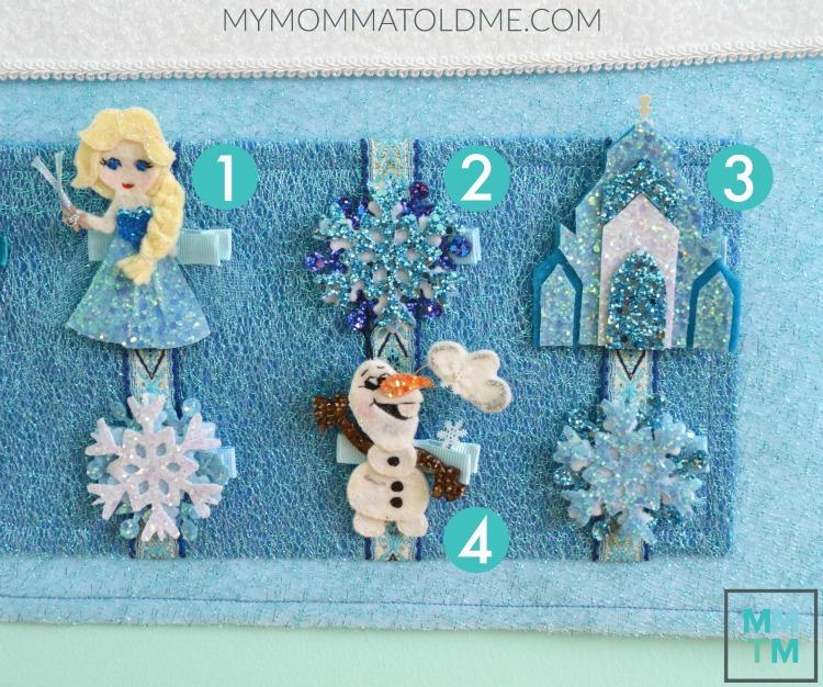 Disney Frozen Christmas Decor Disney Frozen Hair Clips Frozen Advent Calendar tutorial