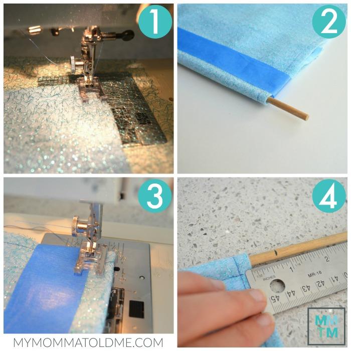 Diy Frozen hair clip Advent calendar tutorial base