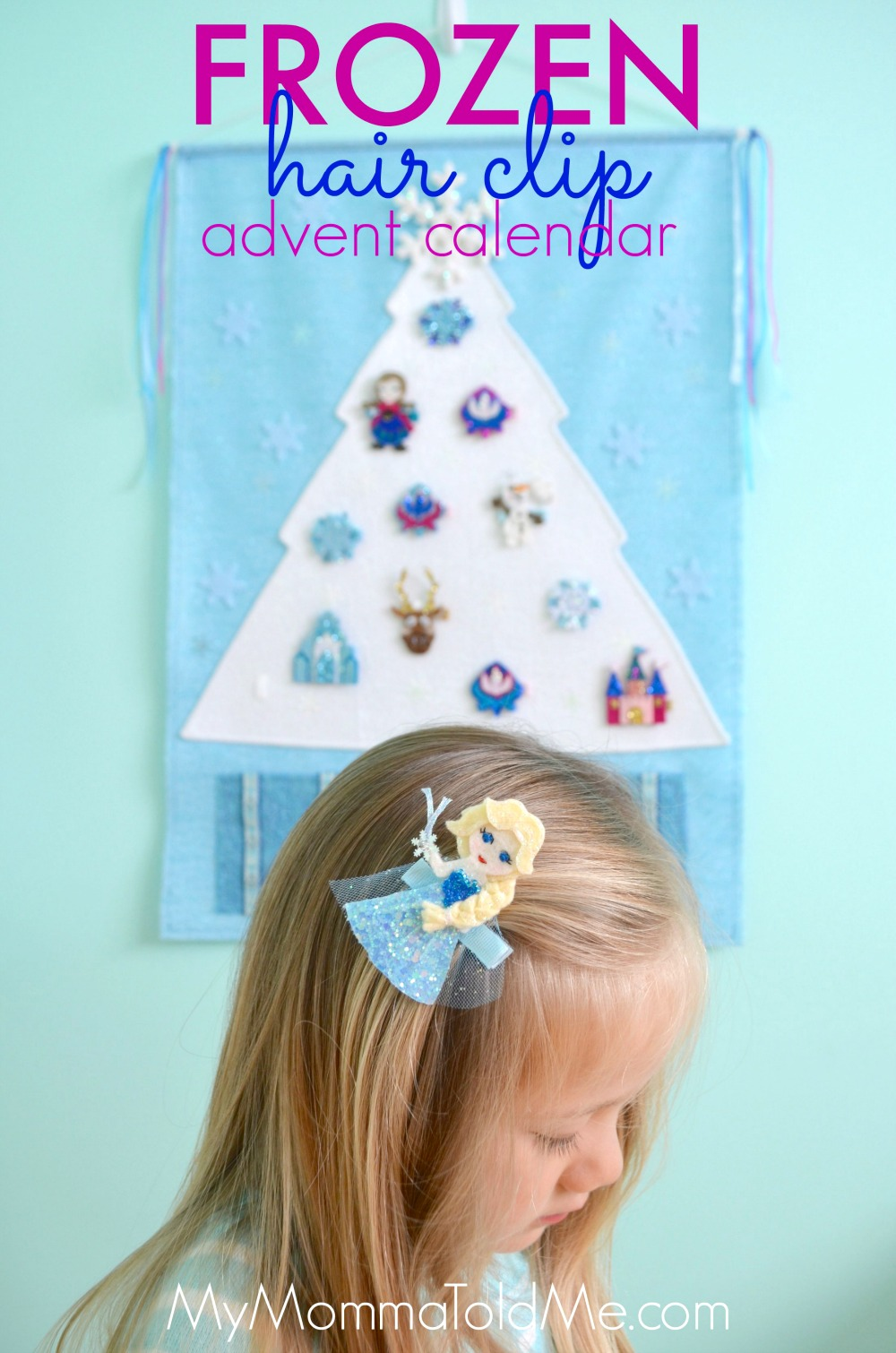 Frozen Advent Calendar Disney Frozen Christmas Decor Frozen Hair Clip Advent Calendar Frozen Christmas Tree