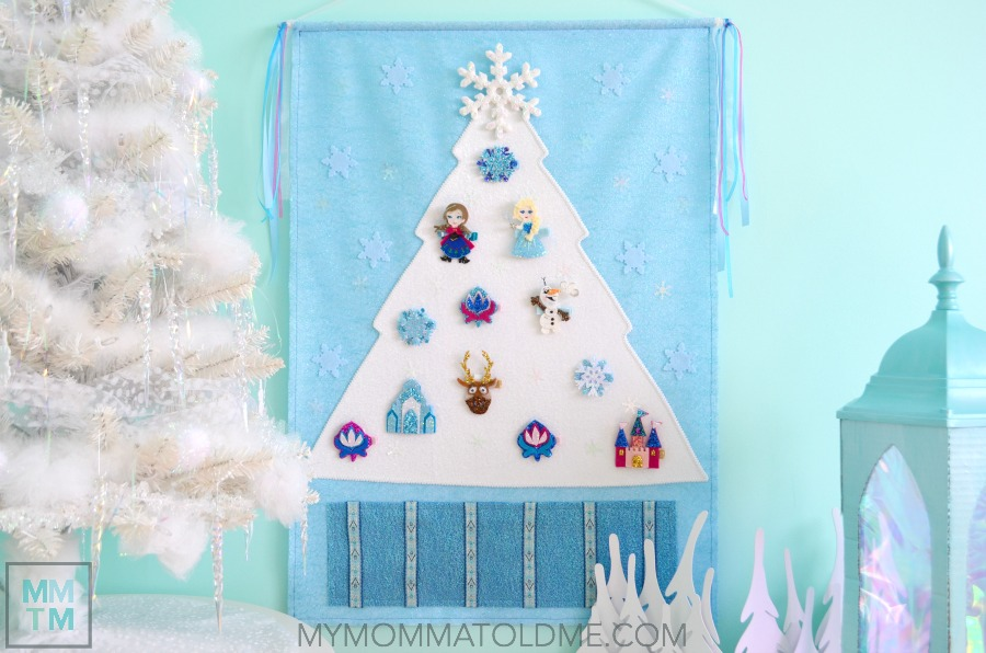 Frozen Advent Calendar Frozen christmas decor Frozen Christmas decorations Frozen Christmas tree Felt advent calendar