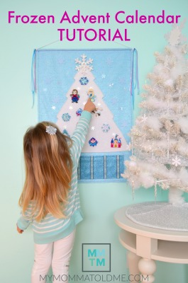 Frozen Advent Calendar Tutorial BUTTON