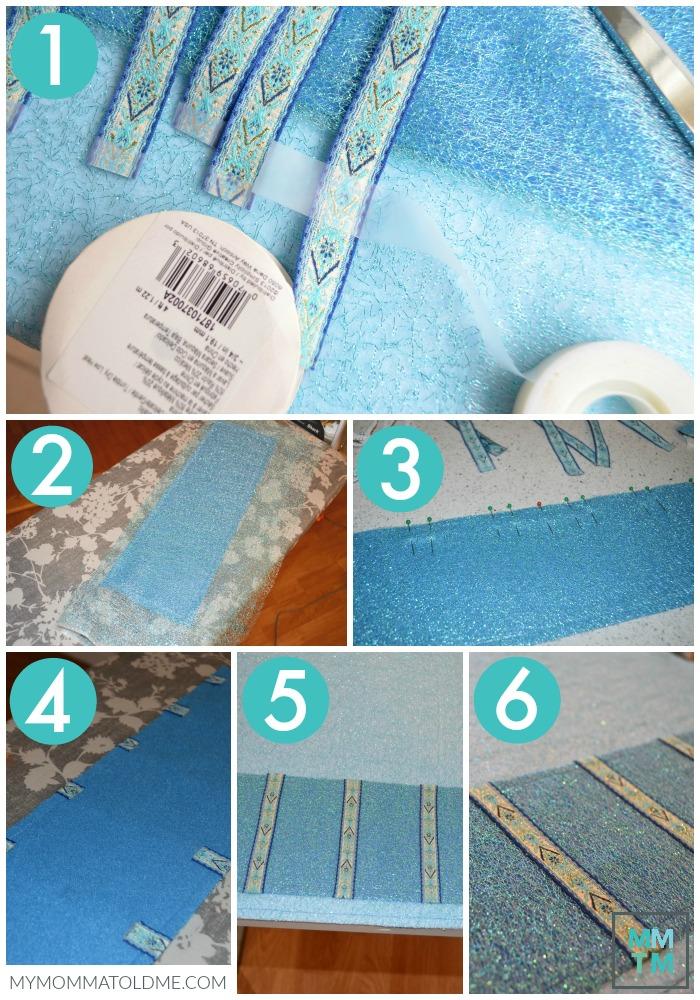 Frozen Advent Calendar tutorial ribbon clip holder