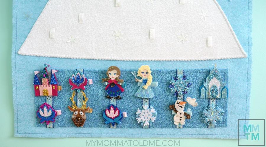 Frozen Hair Clip Advent Calendar Frozen Christmas Decorations Frozen DIY Craft Tutorial