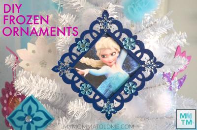 Frozen Christmas ornaments Button