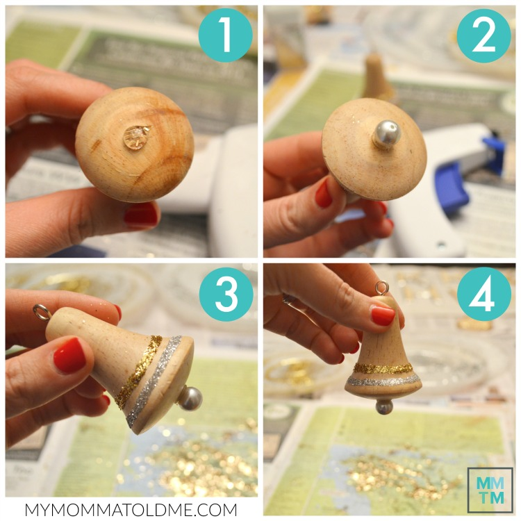 Natural Rustic Christmas Decor Wood Bell Ornament Tutorial