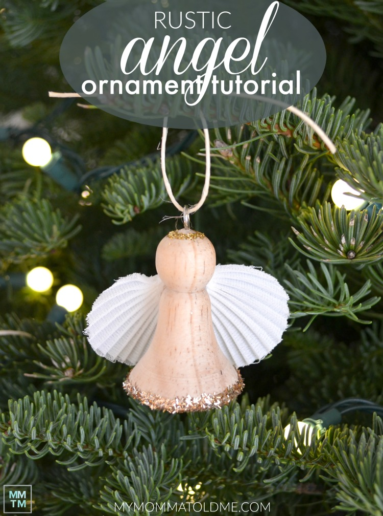 Wooden Angel Christmas Ornament Rustic Christmas Ornament Rustic Angel Christmas Ornament Wooden Ornament tutorial DIY