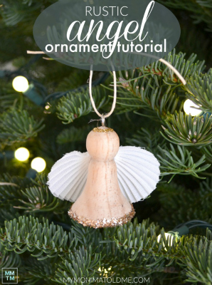 Wooden Angel Ornament Tutorial BUTTON