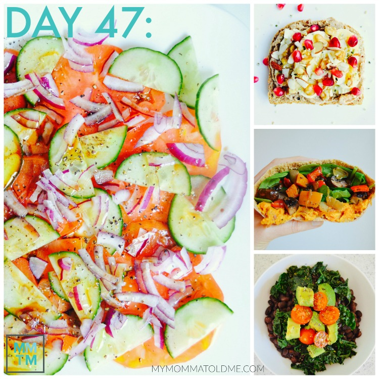 Dr Fuhrman Eat to Live Program Daily Menu Day 47 breakfast lunch dinner