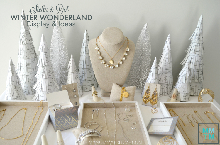 Stella & Dot Winter Christmas Display ideas Small pop up shop tips and tricks