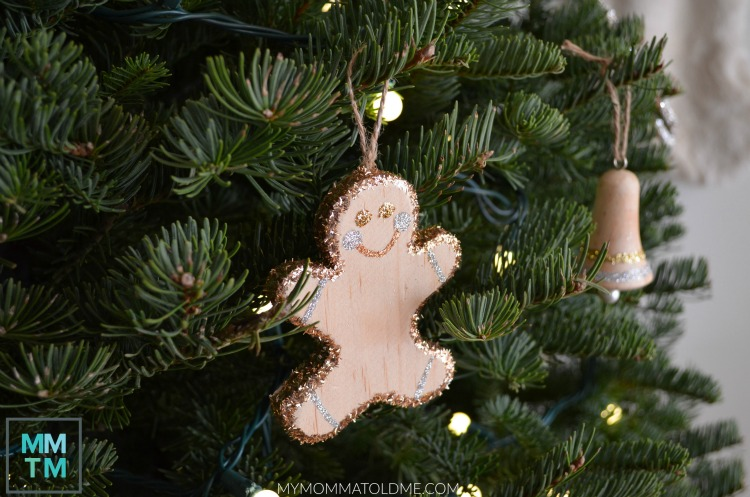 Gingerbread man Christmas ornament Unfinished Wood Christmas Ornaments Gingerbread man ornament toddler-proof christmas tree decorations