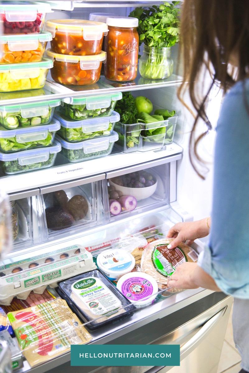 Eat to Live Fridge Healthy Refrigerator Organization How I share my fridge with my family Hello Nutritarian copy