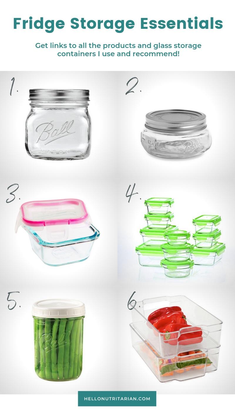 Best Glass Food Storage Containers Fridge Organization Marie Kondo KonMari Method Spark Joy Kitchen Refrigerator Organization