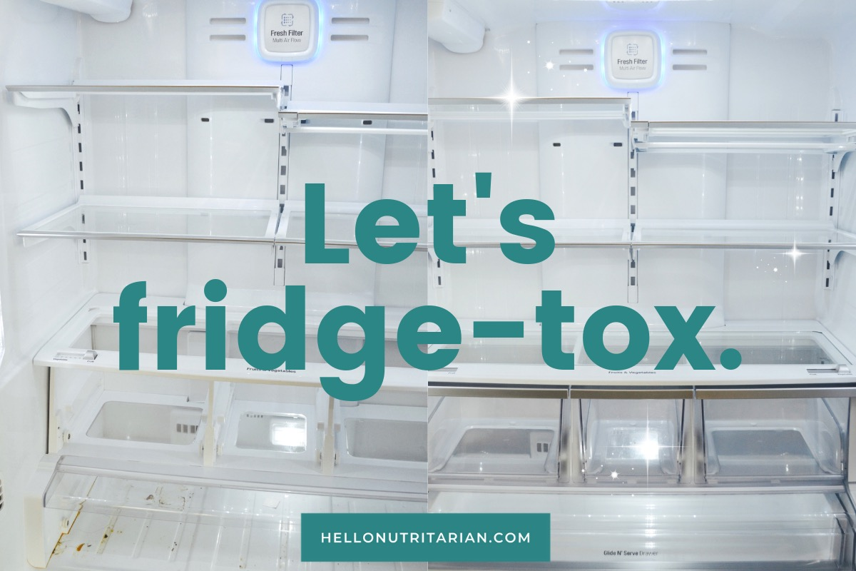 Refrigerator Organization Marie Kondo Fridge cleaning detox