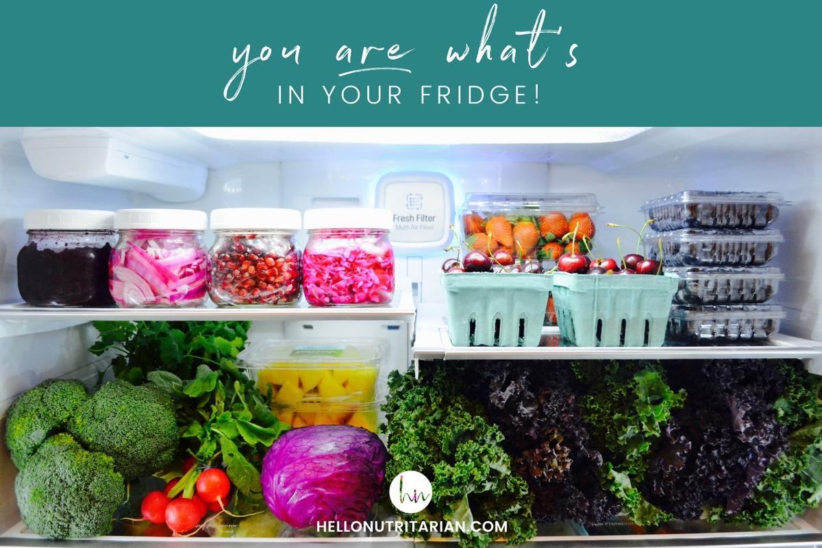 Clean eating fridge vegan whole food plant based cowspiracy forks over knives Dr fuhrman eat to live what is in tour refrigerator