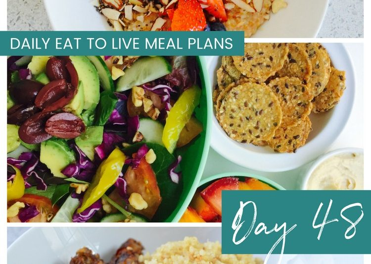 Daily Eat to Live Meal Plan Day 48 Whole Food Plant Based Diet Recipes What the Health Cowspiracy The Big Fat Truth