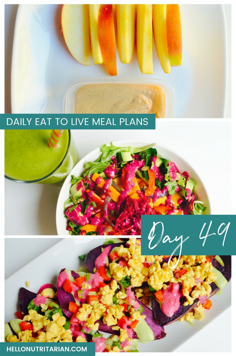 Daily Eat to live Meal Plans Day 49 THe End of Dieting The End of Heart Disease Loaded Sweet Potatoes Recipe
