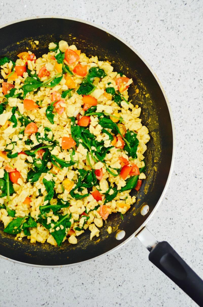 Dr Fuhrman Eat to Live Program nutritarian recipe tofu eggs vegan tofu eggs