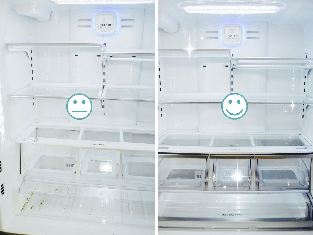 Healthy Eating Refrigerator Clean Fridge Before and After fridge pics