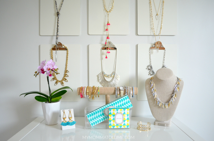 Stella Dot Spring 2016 collection Clipboard Jewelry storage idea