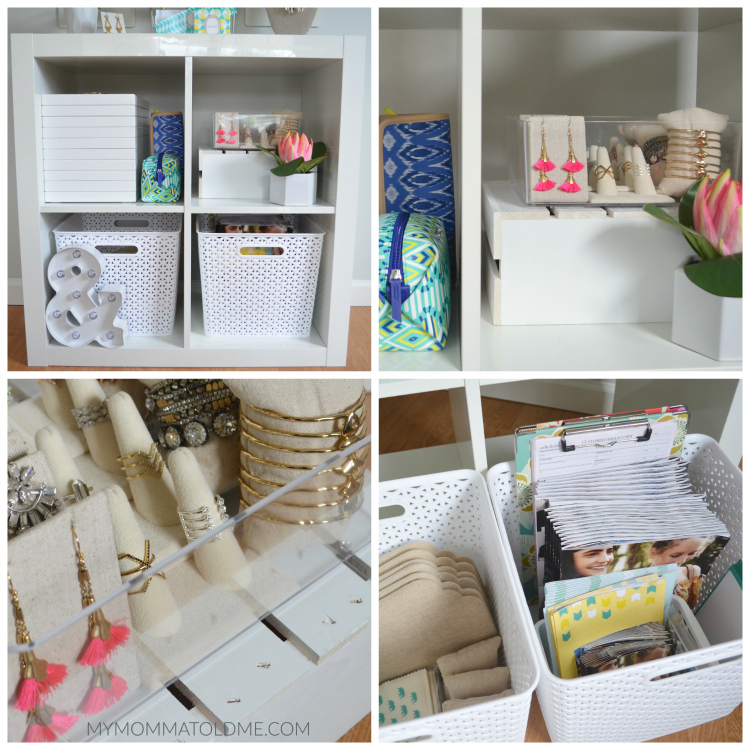 IKEA Kallax stella dot jewelry storage