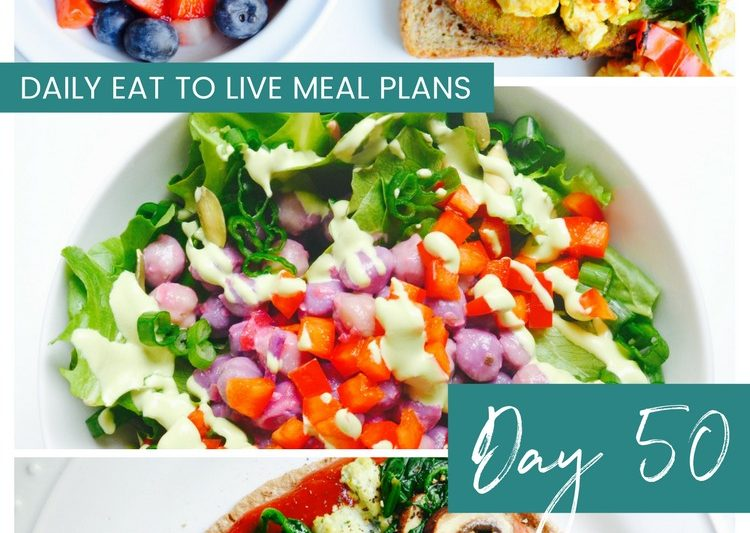 What to eat in a day on Eat to Live Diet Day 50 Dr Fuhrman plan review Whole Food Plant Based Vegan recipes