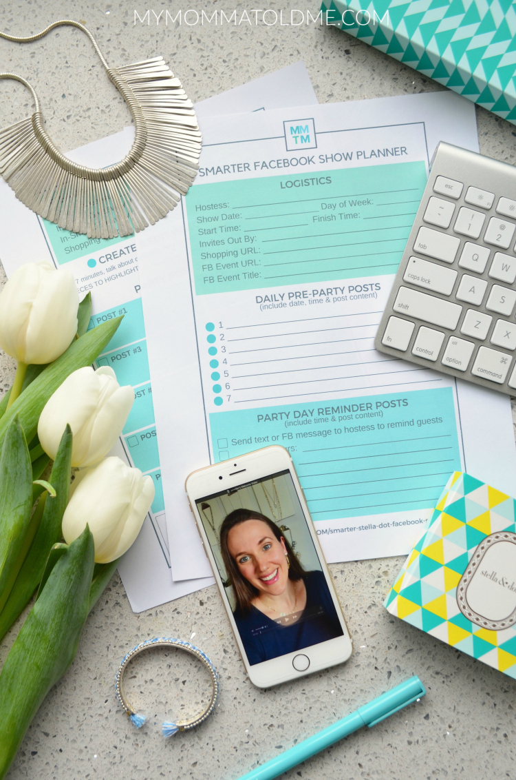 Direct sales Facebook show Facebook Party Smarter Stella & Dot Facebook Shows tips and tricks Jamberry facebook show Stella dot online show script