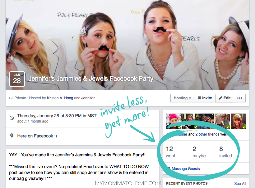 Stella dot direct sales facebook show party tips trick who to invite